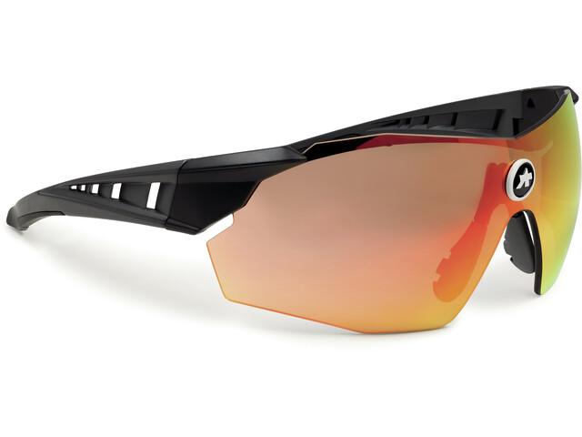 ASSOS Skharab Glasses, black/national red